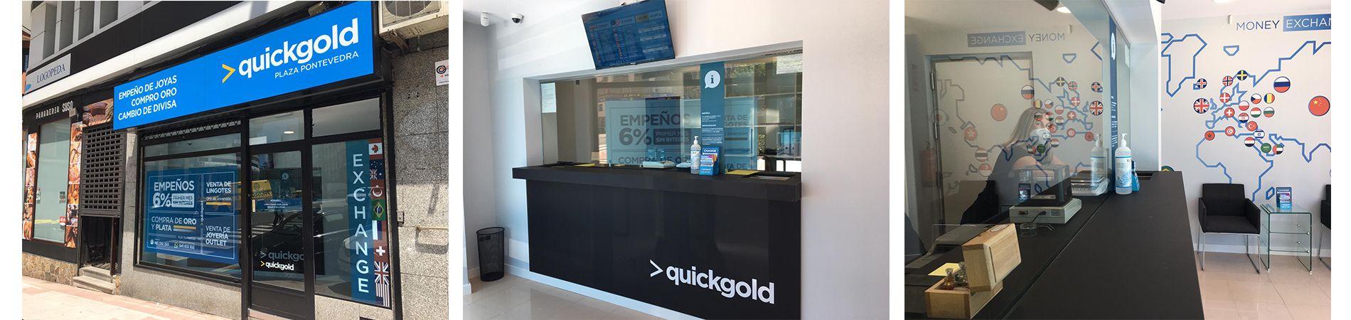 Fotos nueva tienda Quickgold en La Coruña (Plaza Pontevedra)
