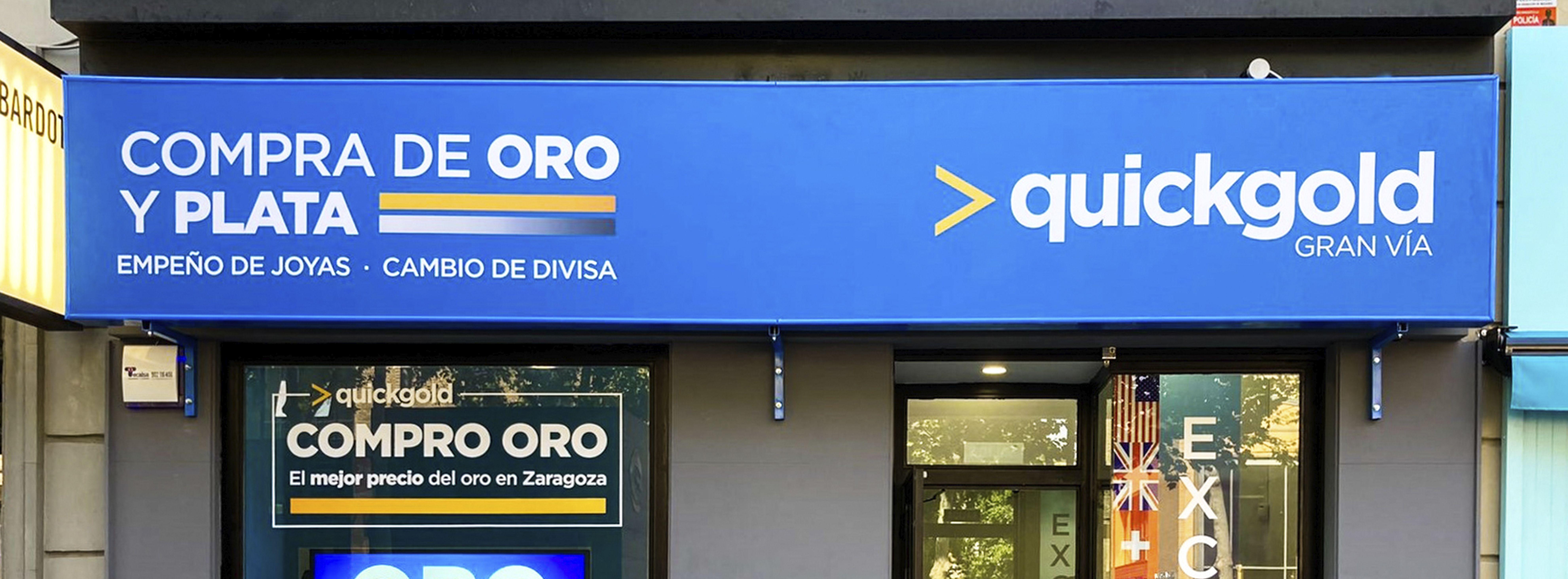 apertura Quickgold Zaragoza Gran Vía exterior fachada quickgold compro oro
